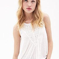 Pleated Lace Knit top