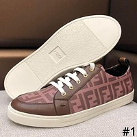 Fendi 2019 new full printed letter logo men's casual sports shoes #1
