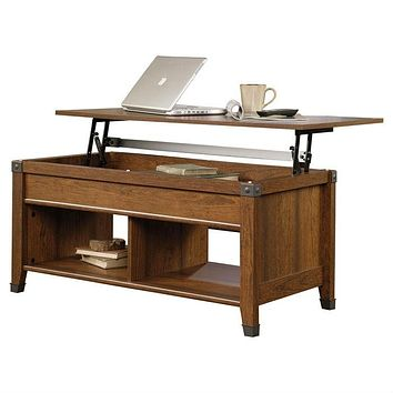 Lift-Top Coffee Table in Cherry Wood Finish