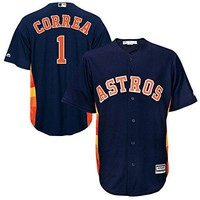 Carlos Correa Houston Astros Majestic Official Cool Base Player Jersey Navy