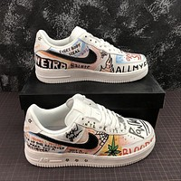 VLONE x Nike Air Force 1 Low '07 AF1 Customs Grafitti Fashion Shoes