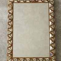 Studded Pyramid Mirror by Anthropologie in Bronze Size: