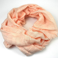 'Lucille' Infinity Scarf in Melon - The Faire Collection
