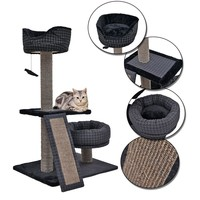 Cat Tree House With Cat Beds And Scratching Boards