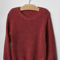 Gap Contrast Tipped Waffle Sweater