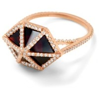 RCD613R - Garnet cage ring with diamonds - New Arrivals - Collections