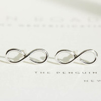 2016 New Fashion Earrings Simple Infinity Stud Earrings for Women Party Gifts