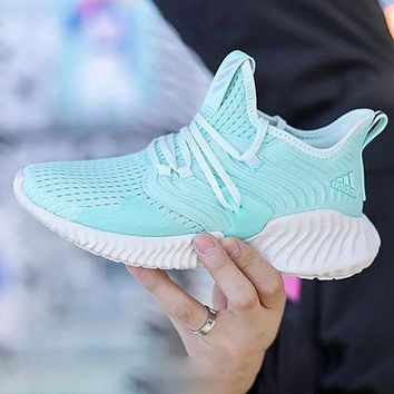 ADIDAS ALPHABOUNCE INSTINCT Blue White soles sells neutral wavy chunky sneakers