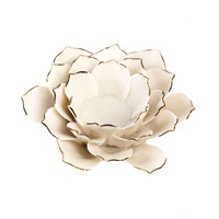 White Lotus Tea Light Holder