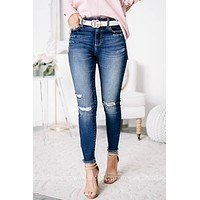 Can't Be Tamed High Rise Distressed Skinny Jeans