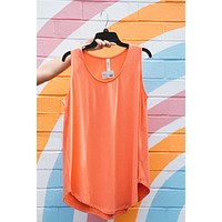 Time After Time Tank, Coral | Plus Size