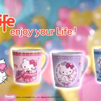 "Sanrio Hello Charmmy Kitty Hi-Life Store Limited 3.5"" 3 Ceramics Mug Cup Set"