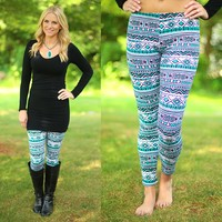 All About Aztec Patterned Leggings
