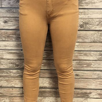 Free People Gold Jeans
