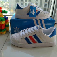 """""""Adidas Superstar"""" Fashion Casual Small White Shoes Women Shell Head Plate Shoes Sneakers"""