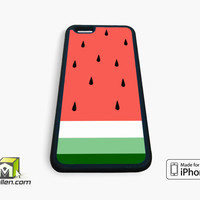 Watermelon Fruit Cute Pink and Green Funny Custom iPhone Case 4, 4s, 5, 5s, 5c, 6 and 6 plus by Avallen