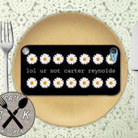 Lol Ur Not Carter Reynolds Daisy Flower Pattern Cute Custom Rubber Case iPod 5th Generation and Plastic Case For The iPod 4th Generation