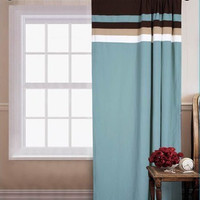 "55x90"" Palermo Window Curtain Blue"