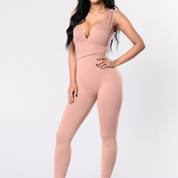 Do No Wrong Jumpsuit - Blush