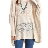 Oversized Pointelle Dolman Sweater by Charlotte Russe