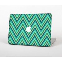 """The Vibrant Green Sharp Chevron Pattern Skin Set for the Apple MacBook Pro 13"""" with Retina Display"""