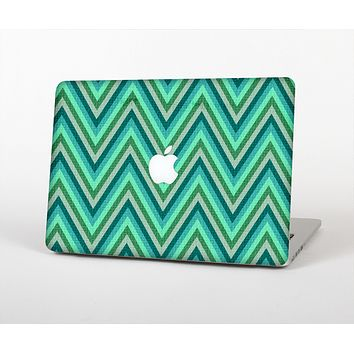 The Vibrant Green Sharp Chevron Pattern Skin for the Apple MacBook Air 13""