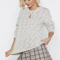 Wouldn't Knit Be Nice Cable Knit Sweater
