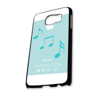 Musical notes mint color Samsung Galaxy S6 Case