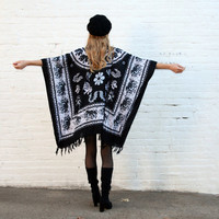 HIPPIE  Boho INDIAN Gypsy Kaftan Dress Tunic with Fringe One Size - ELEPHANTS