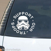 Support Our Troops Star Wars Stormtrooper military car decal vinyl sticker