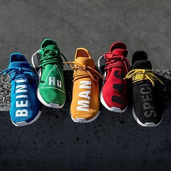 """Adidas"" NMD Human Race Black Leisure Running Sports Shoes Colorful"