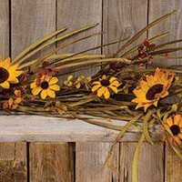 Grassy Warm Sunflower 4 ft Garland