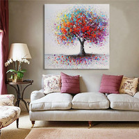Framed Modern Abstract Hand-Painted Painting Wall Art Bedroom living Room Home Decor
