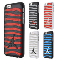 Retail 3D Air Jordan phone case for iphone 6 plus 5.5 PVC Rubber Stripe Jumpman Phone Back Cover for iphone 6 4.7 inch 5S SE