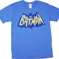Vintage Batman Logo T-Shirt by Junk Food for sale online at OldSchoolTees.com | Large selection of Superhero Tees available for Old School Tees