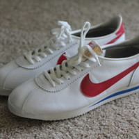 NEW Vintage Nike Cortez Shoes Leather Red White Blue Forrest Gump Mens size 11