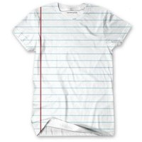 Lined White Paper shirt
