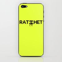 Ratchet Typography iPhone & iPod Skin by productoslocos