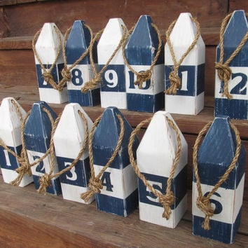 Beach Wedding Party Table Numbers Nautical Wedding 8 Inch Wedding table Numbers Nautical Table Numbers. Set of 12 Nautical Buoys