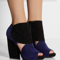 Pierre Hardy|Two-tone suede ankle boots |NET-A-PORTER.COM