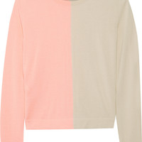 Fendi - Two-tone cashmere and silk-blend sweater