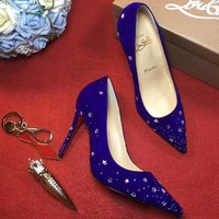 Best Online Sale Christian Louboutin CL 100mm Patent Leather High Heels W04