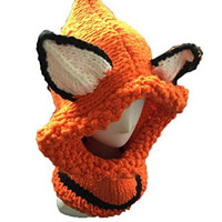Unisex Winter Lovely Fox Animal Knitted Hat Orange MJ-0091-PCJM
