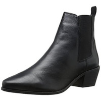 Dune London Womens Petra Leather Slip On Ankle Boots