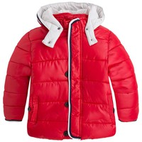 Mayoral Boys' Blackberry Hooded Puffer Coat