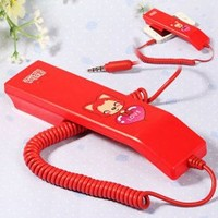 COCO Ali Pattern 3.5mm Wired Retro Handset Phone for iPhone 5/4/4S, Mobile Phone, etc