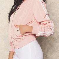 Babe Bomber Jacket (PINK/STRIPED)