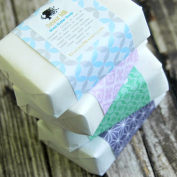 Any 4 Bars . Homemade Soap . Bridesmaid Gift Ideas . Shea Butter Soap . Natural Soap . Glycerin Soap . Mother's Day Gift . Unique Gift Ideas