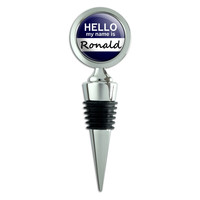 Ronald Hello My Name Is Wine Bottle Stopper