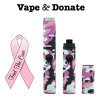 WE DONATE TOWARDS BREAST CANCER with every Pink Camo Micro Vape double kit